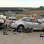 Troopers say speed, unsafe lane change caused five-car crash that injured two on I-182