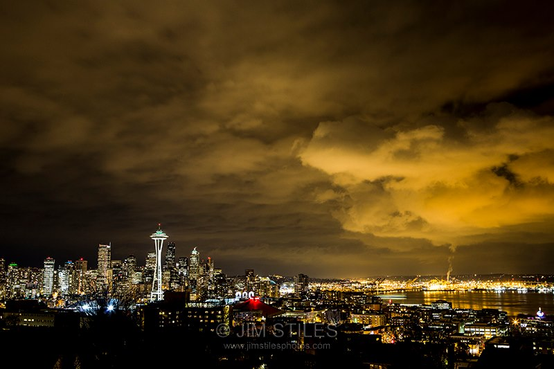 Big Clouds Looming over Downtown Seattle Seattle, Washington (Photo: Jim Stiles)