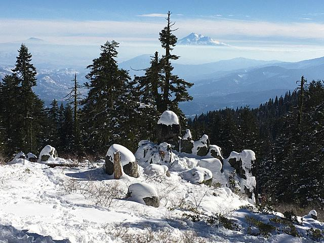 Bonnie Johnson took this photo of Mount Shasta as seen from Mount Ashland on Dec. 5.