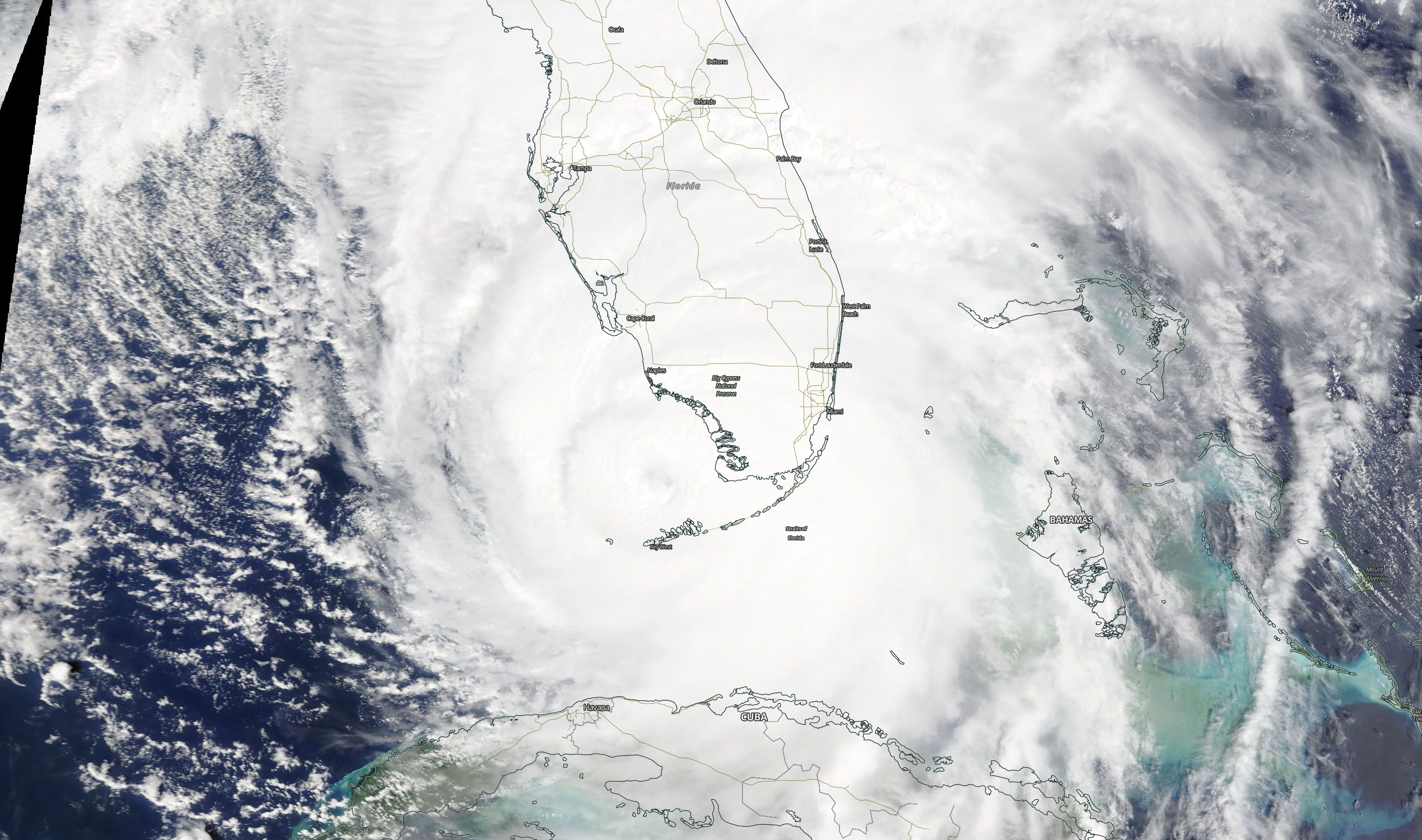 Hurricane Irma as seen on Sept. 10, 2017 (Photo: NASA/MODIS Satellite Image)