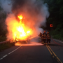Penfield firefighters extinguish car fire Tuesday night