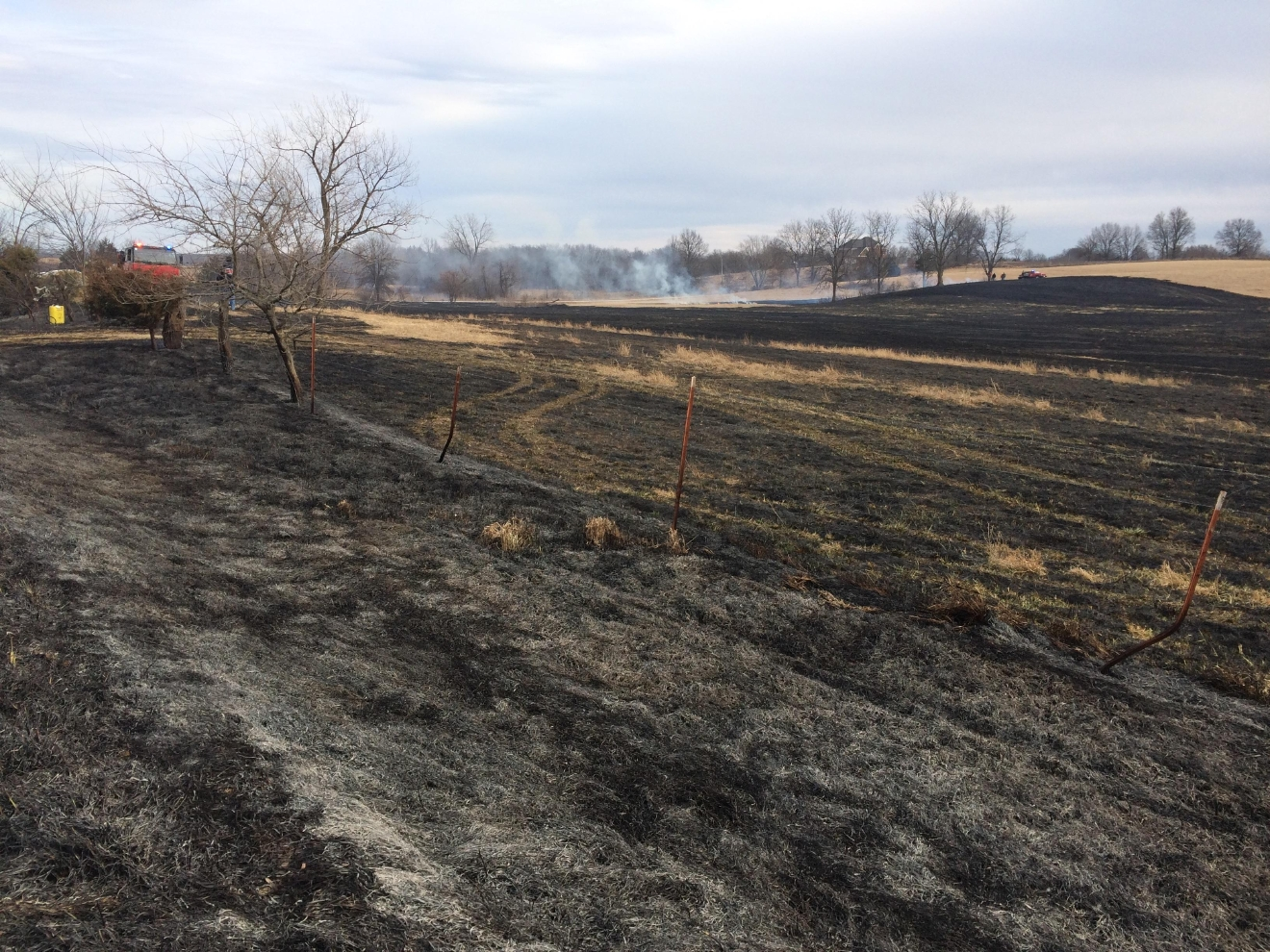 Fire burns several acres of farmland (KTVO/Jacqueline Schutte)
