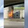 Semi-truck catches fire on I-71/75 near Covington