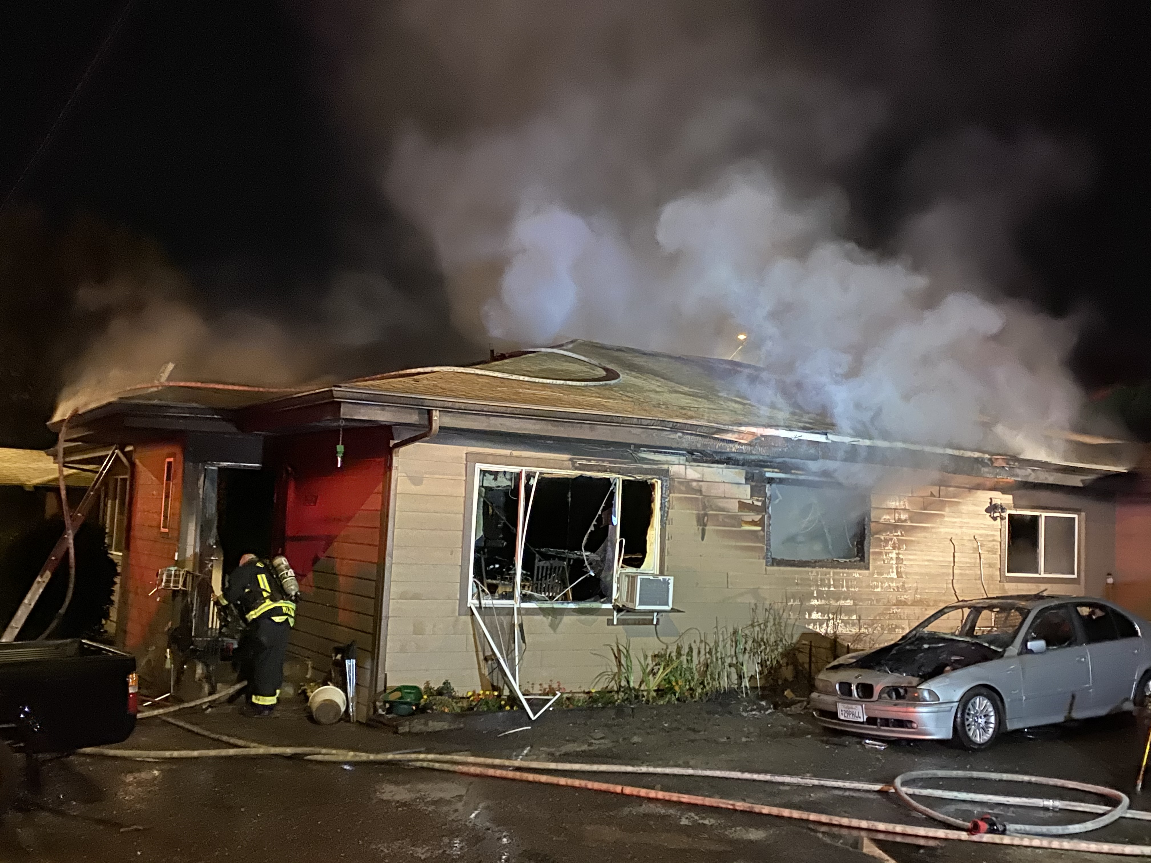 Seven people displaced after apartment fire in Hazel Dell (Courtesy: Clark County Fire)