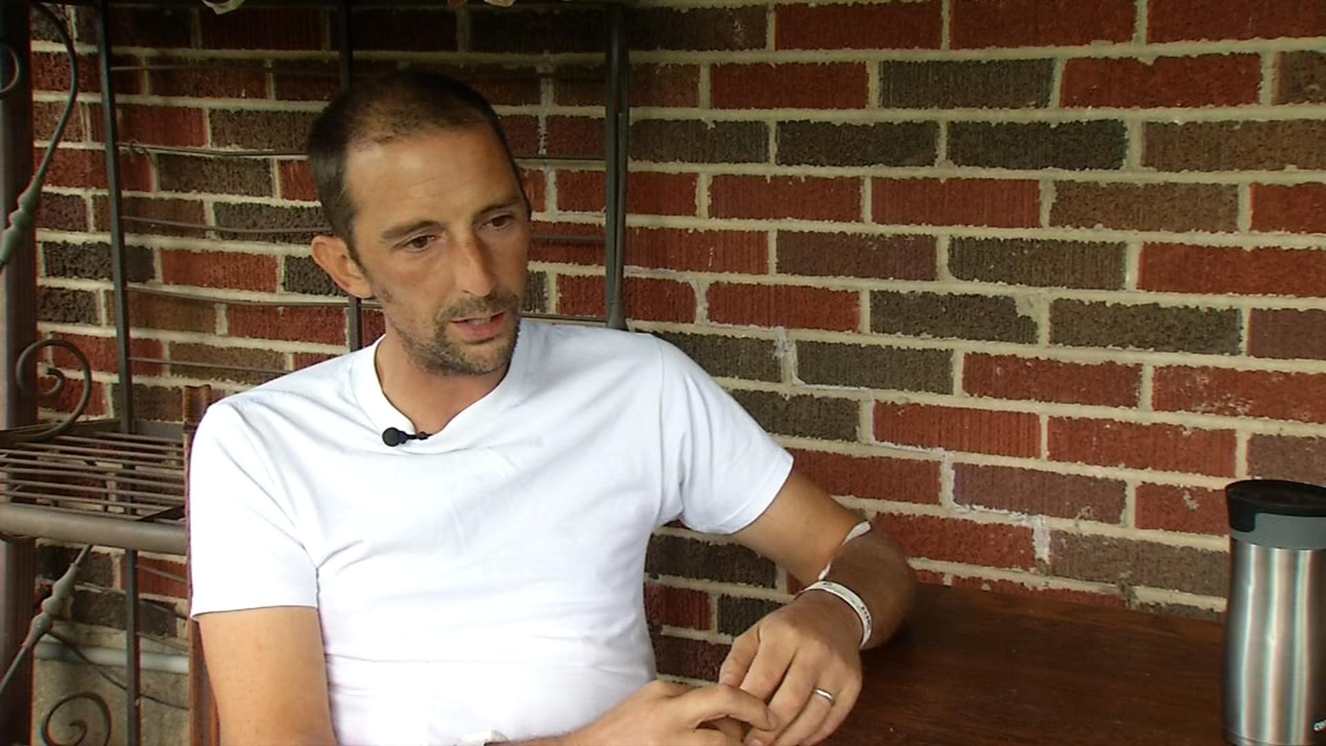 Andy Grimm of the New Carlisle News speaks to FOX 45 exclusively after returning home from the hospital (WKEF/WRGT)