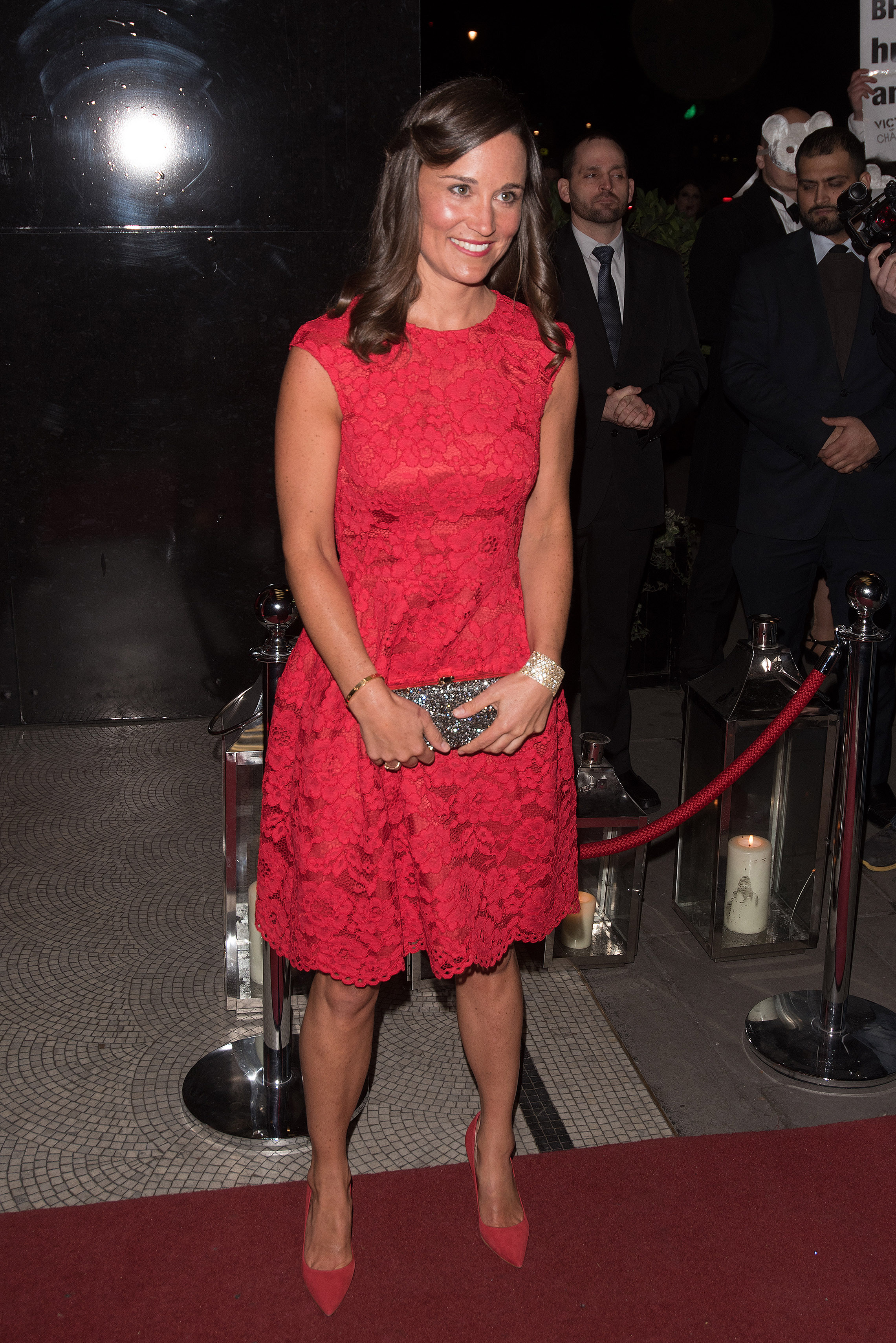 Pippa Middleton attends the British Heart Foundation Roll Out The Red Ball at Park Lane Hotel. London. UK (WENN.com)