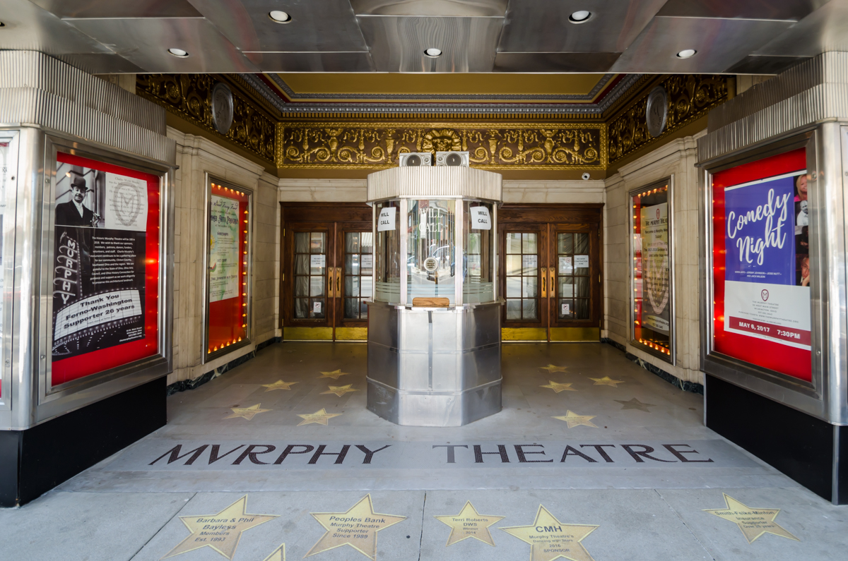 The Murphy Theater was constructed due to the generous funding of Charles Murphy, at the time owner of the Chicago Cubs and former Wilmington resident. It opened in 1918 and is still used a theater and event venue today. / Image: Sherry Lachelle Photography // Published: 7.3.17