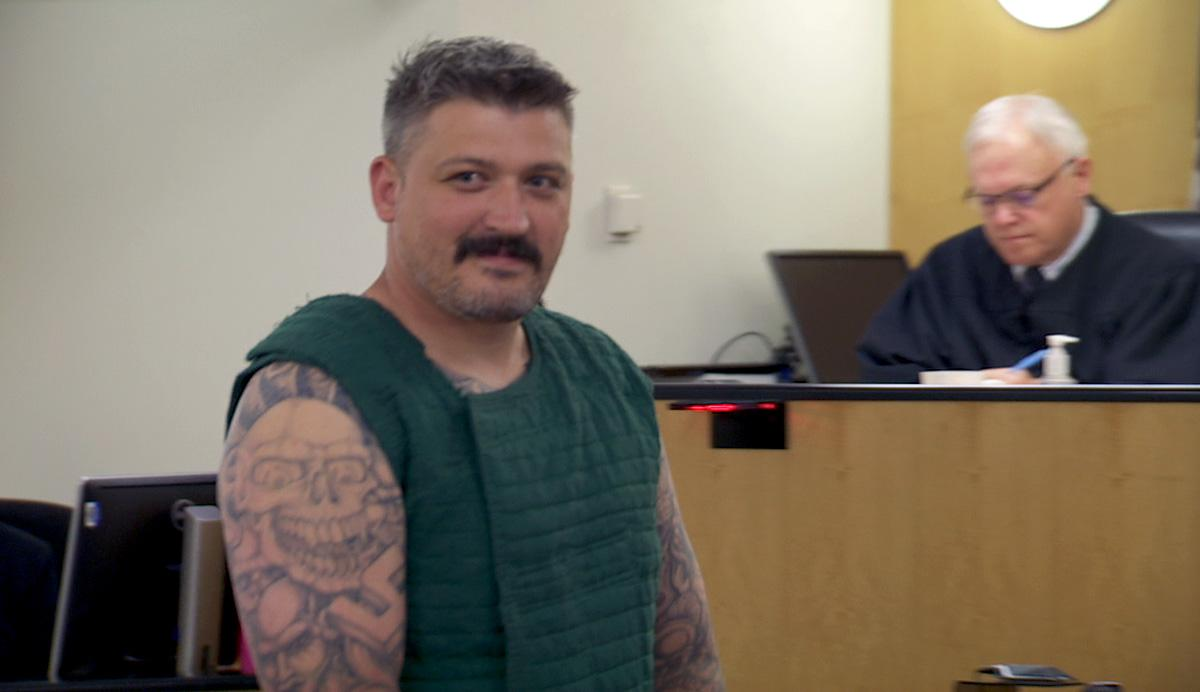 Brent Luyster appears in court on murder charges on July 18, 2016. (KATU Photo)