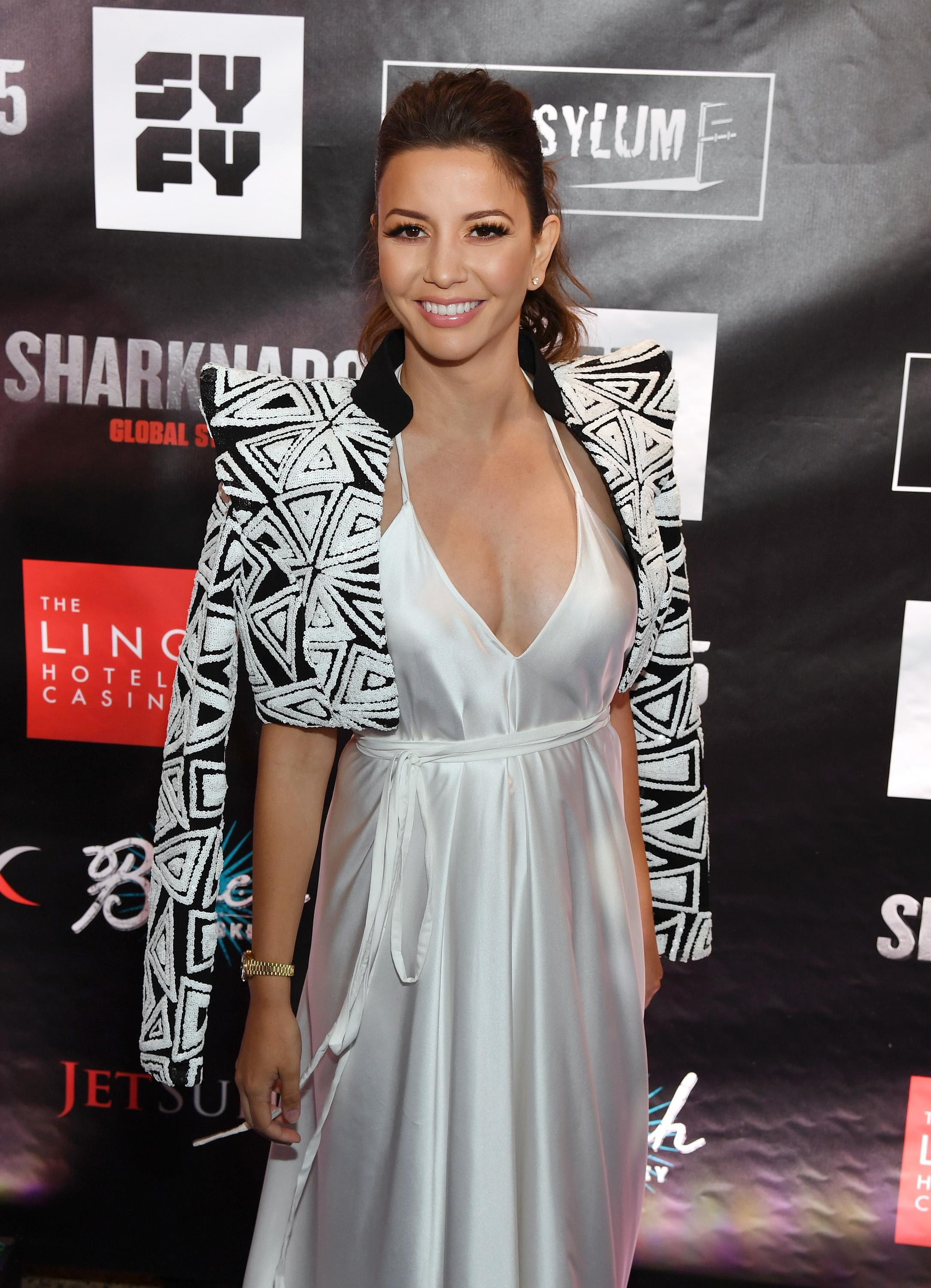 "LAS VEGAS, NV - AUGUST 06:  Actress Masiela Lusha attends the premiere of ""Sharknado 5: Global Swarming"" at The LINQ Hotel & Casino on August 6, 2017 in Las Vegas, Nevada.  (Photo by Ethan Miller/Getty Images for Caesars Entertainment )"