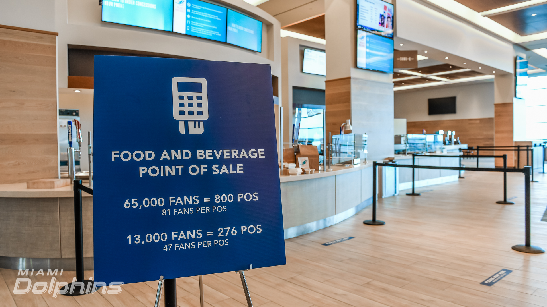 Food and Beverage Point of Sales at Hard Rock Stadium{ }(Miami Dolphins)