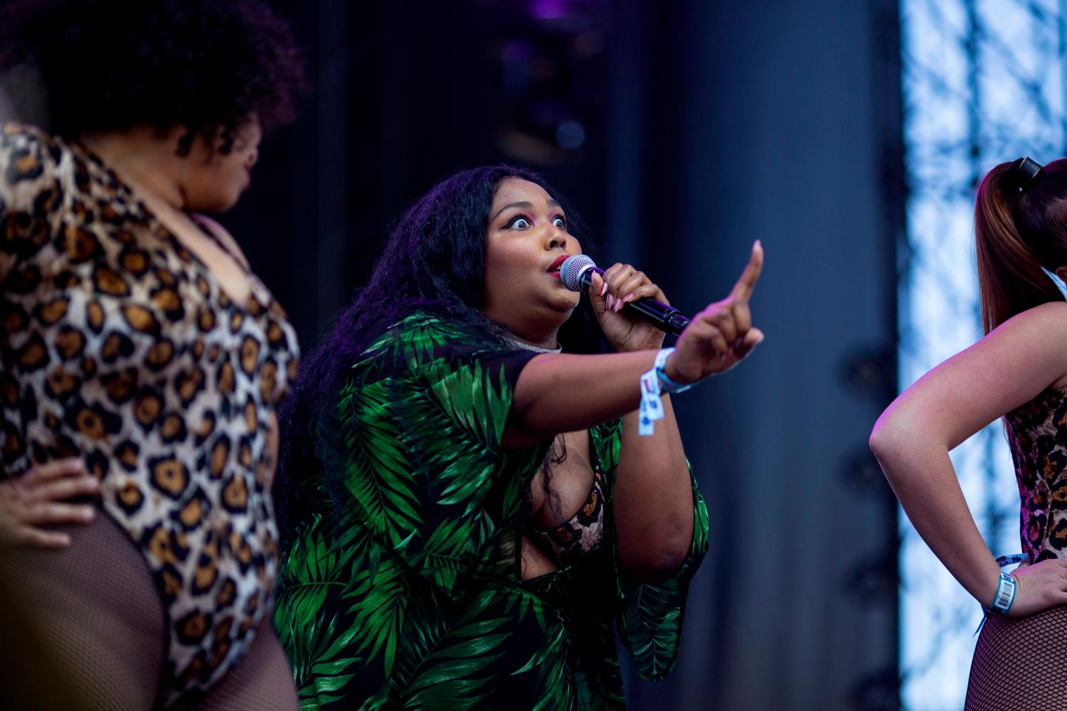 Lizzo performs at the second day of the annual Sasquatch! Music Festival. The three-day festival runs throughout the Memorial Day Weekend, from May 25-27, 2018. (Sy Bean / Seattle Refined)