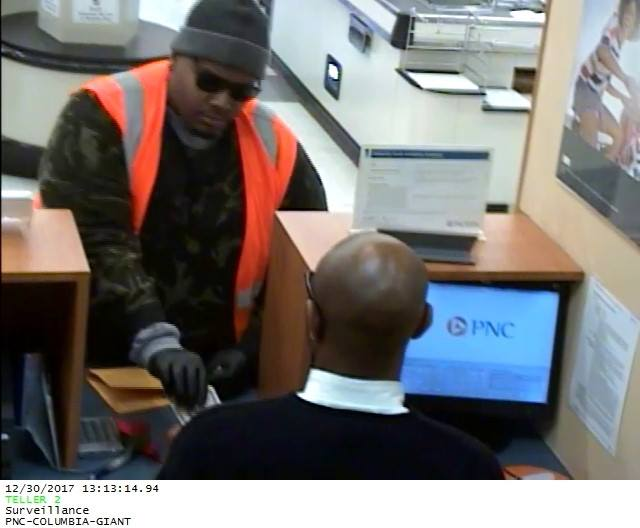HELP FIND | Suspect robbed bank inside Columbia Giant (Courtesy: Howard County Police Department)