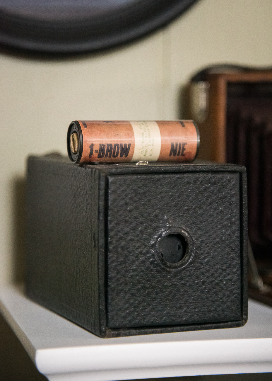 An old box camera with an original, sealed roll of film / Image: Phil Armstrong, Cincinnati Refined // Published: 2.25.19
