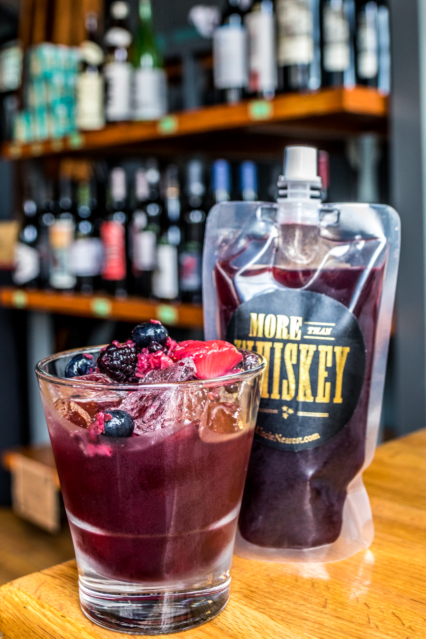 PLACE: The Listing Loon / ADDRESS: 4124 Hamilton Avenue (Northside) / Uncle's Sangria: Uncle Nearest whiskey, Vigneti del Sole Montepulciano, and muddled berries / Carryout available: (513) 542-5666{ }or listingloonorders@gmail.com / Image: Catherine Viox // Published: 4.28.20
