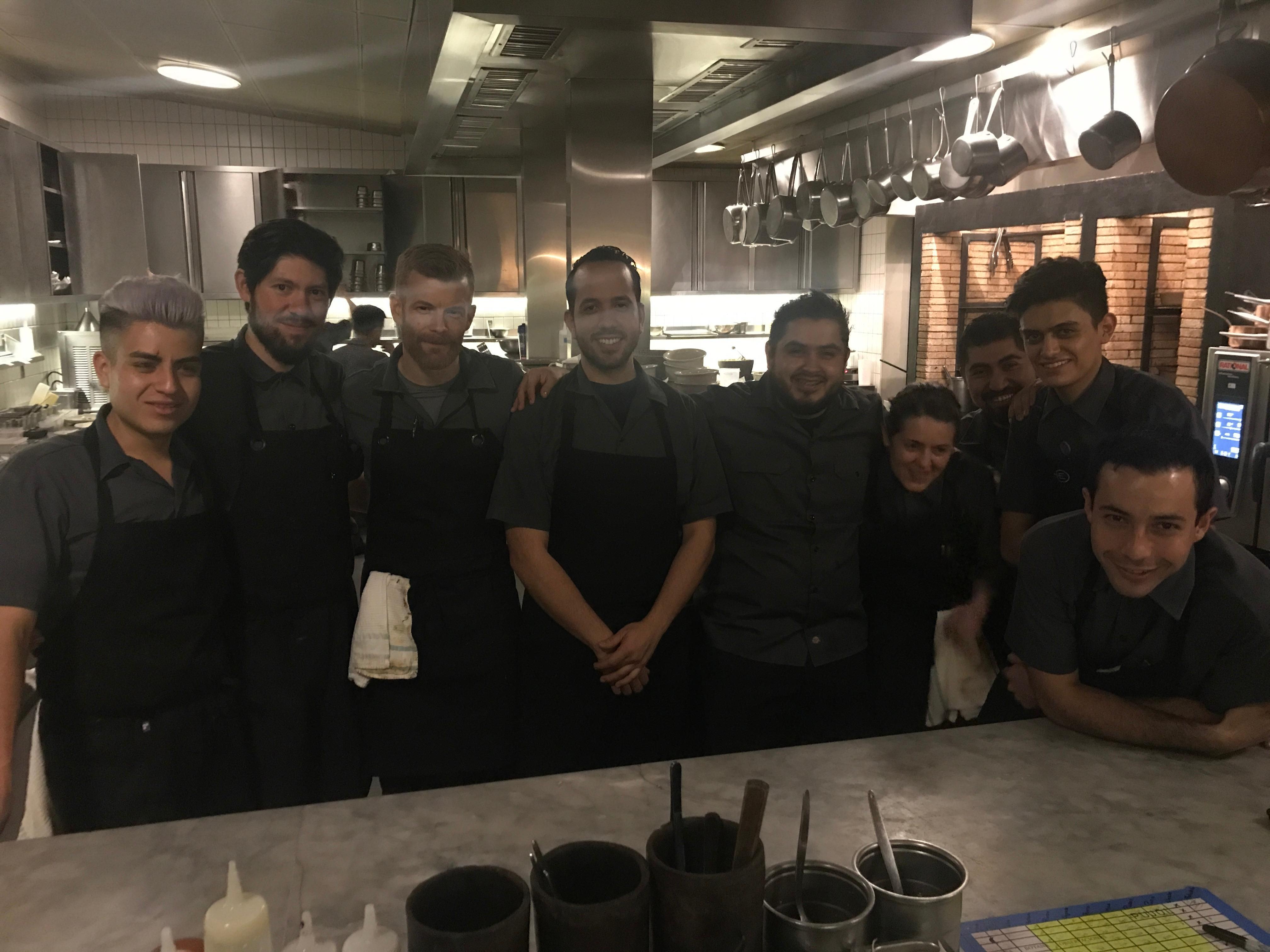 """Everyone at Pujol is very proud to work there -- they are very hard-working, dedicated and passionate cooks and are always pushing forward,"" said Aikens. ""They have great camaraderie, they enjoy what they do and are always running to get tasks completed; you can see that they all love what they do in a 16-hour day."" (Image: Courtesy Robert Aikens)"