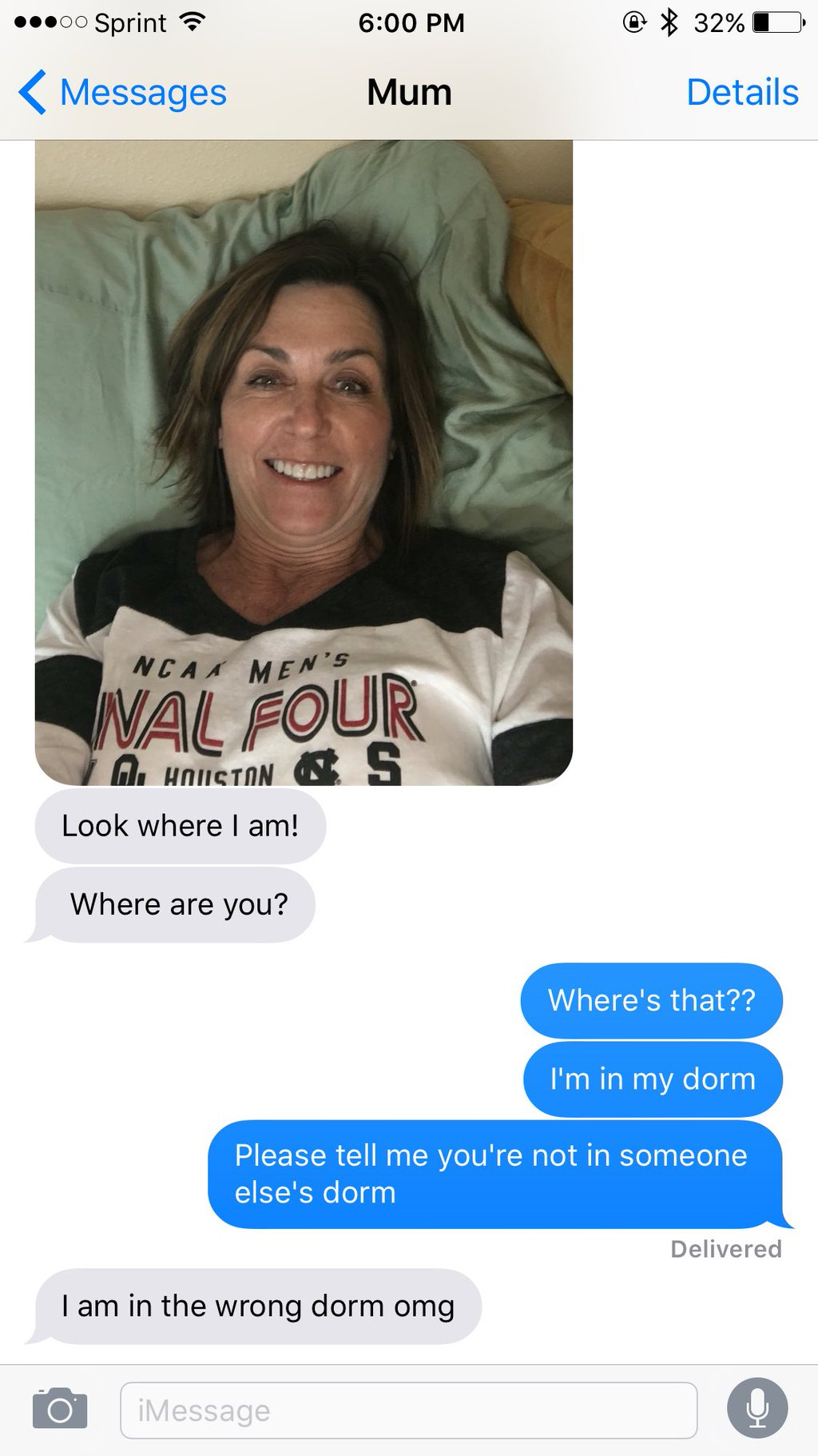 Mom fails when she tries to surprise daughter at Utah State University in her dorm. (Photo: McKenna Pilling)
