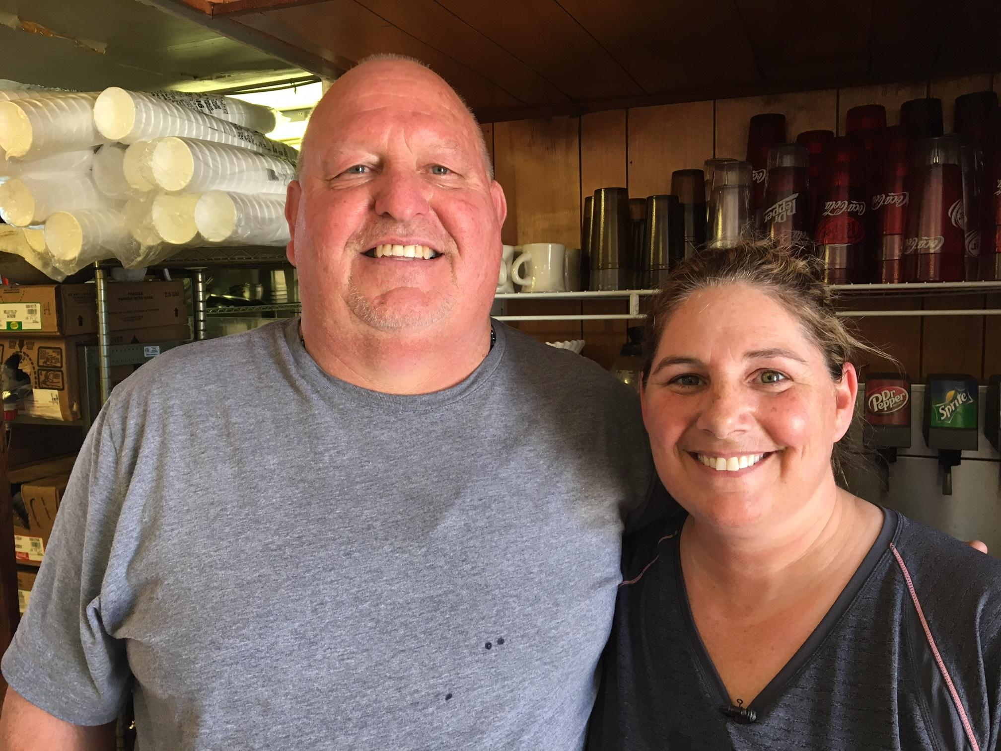 Customer Lebron Durham nominates Deni Heaton, the owner of Chubby's Bar-B-Q, for Pay It Forward. (Image: WTVC)
