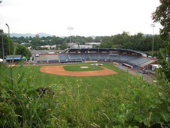 Home of the Asheville Tourists, Class A affiliate of the Colorado Rockies, McCormick Field is built into the side of a hill, meaning some of the concourses are actually underground.