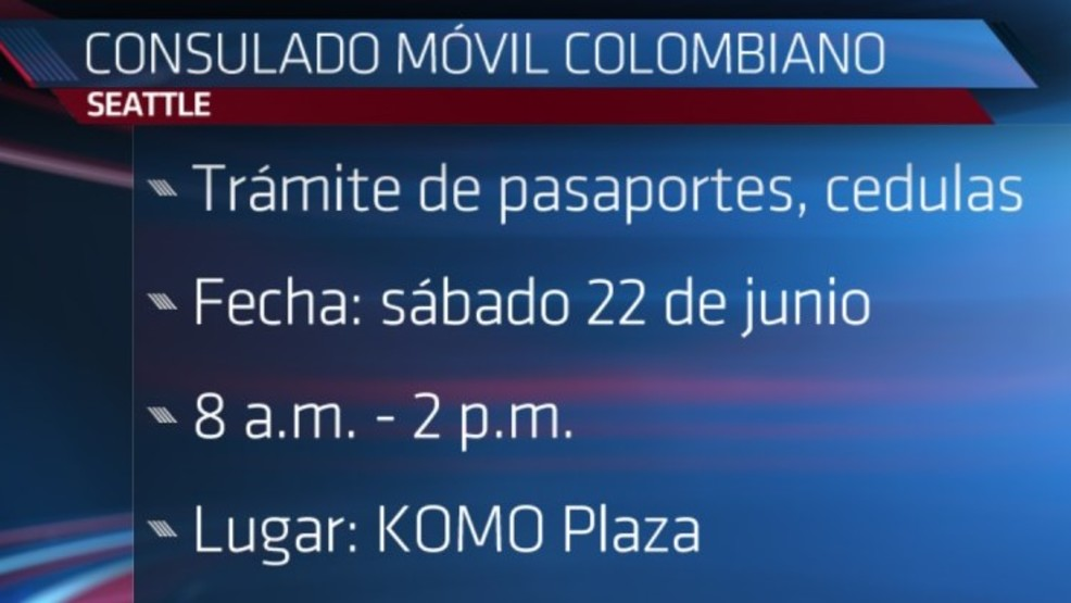 Consulado móvil colombiano en Seattle