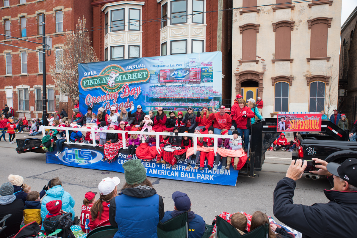 The Reds Opening Day Parade was held on Monday, April 2, 2018. The parade started at Findlay Market and ended by the Taft Theatre on 5th Street. Opening Day and the parade didn't fall on the same day; the parade preceded the Reds' 4th game of the season. They ended up shutting out the Chicago Cubs 1-0. / Image: Sherry Lachelle Photography // Published: 4.3.18