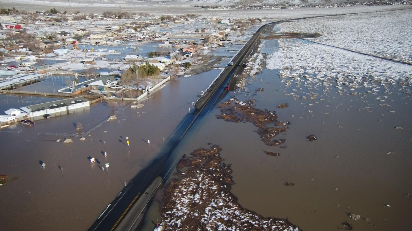 Flooding covers much of Lemmon Valley in Feb. 2017 (SBG)