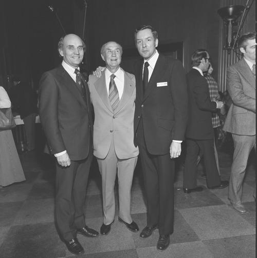 Web Exclusive: Jake Garn with Sen. Orrin Hatch (Photo Courtesy of U.S. Senate Historical Office)