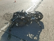 A motorcycle crash killed a man on I-84 Friday. (Photo: UHP)