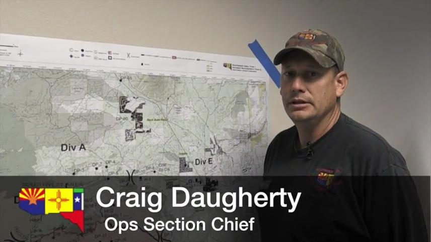 August 23, 2017, update on the Milli Fire from Operations Section Chief Craig Daugherty of the Southwest Area Type 1 Incident Management Team.Thumbnail