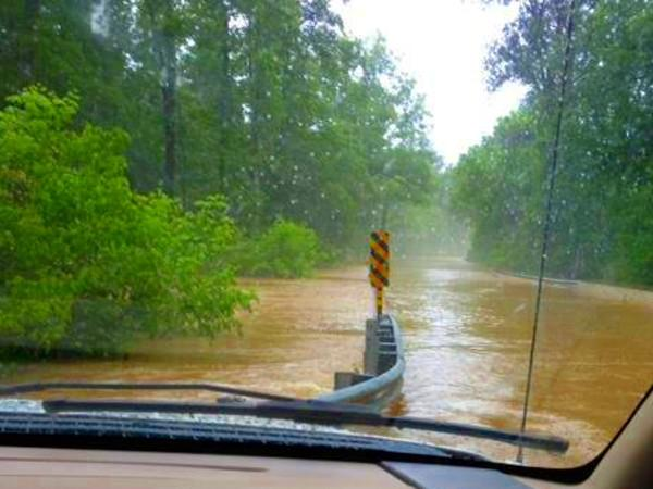 Kelly Creek over Cook Springs Cutoff Road... Photo by Kathleen Graves