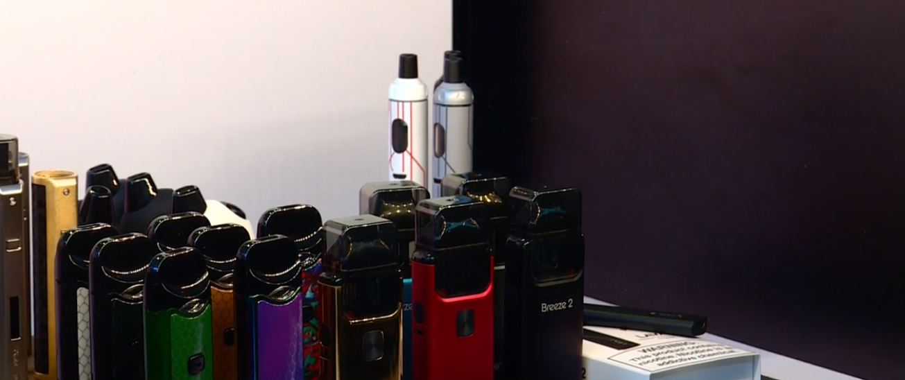 "Sen. Mitt Romney (R-UT) is in Utah Thursday to discuss the nation's ""vaping crisis"" and anti-vaping efforts. (Photo: KUTV)"