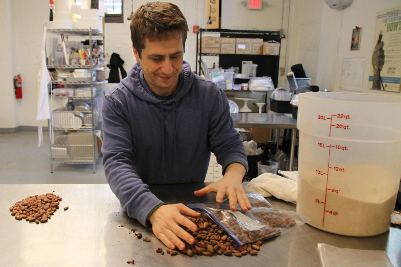 Adam initially started Undone Chocolate when he was living in New York and studying the health benefits of cacao out of his apartment. He says working in such a confined area helped him get in the habit of staying organized. (Image: Amanda Andrade-Rhoades/ DC Refined)