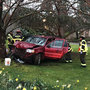 Woman injured, man arrested after car crash on Olympia's Capitol campus