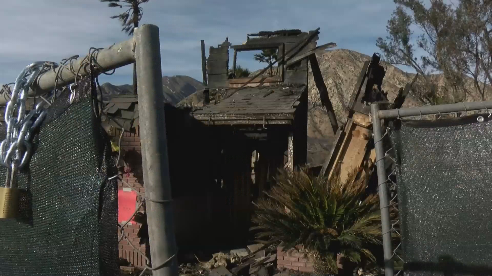 The Creek Fire has been blamed for destroying at least 56 homes, including this one in Sylmar, Calif. (George Romero/KSNV)