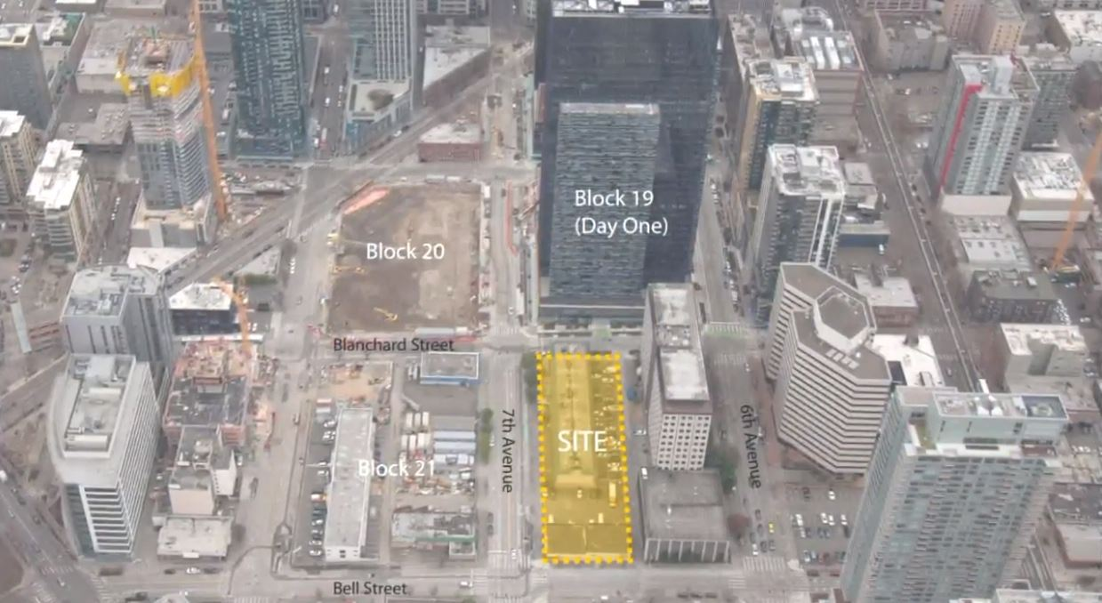 Amazon said Monday it had resumed construction planning on its Block 18 project at Seventh and Blanchard. The development is expected to house thousands of Amazon employees in the new 405,000-square-foot building, but the company also made it clear that it is unhappy with the council's action. (Photo: KOMO News)