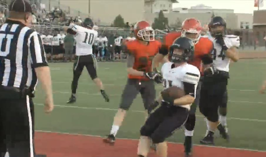 Norman North scores against Yukon on Friday, Sept. 9, 2016 (KOKH)