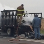 Truck fire slows Highway 63 traffic south of Queen City