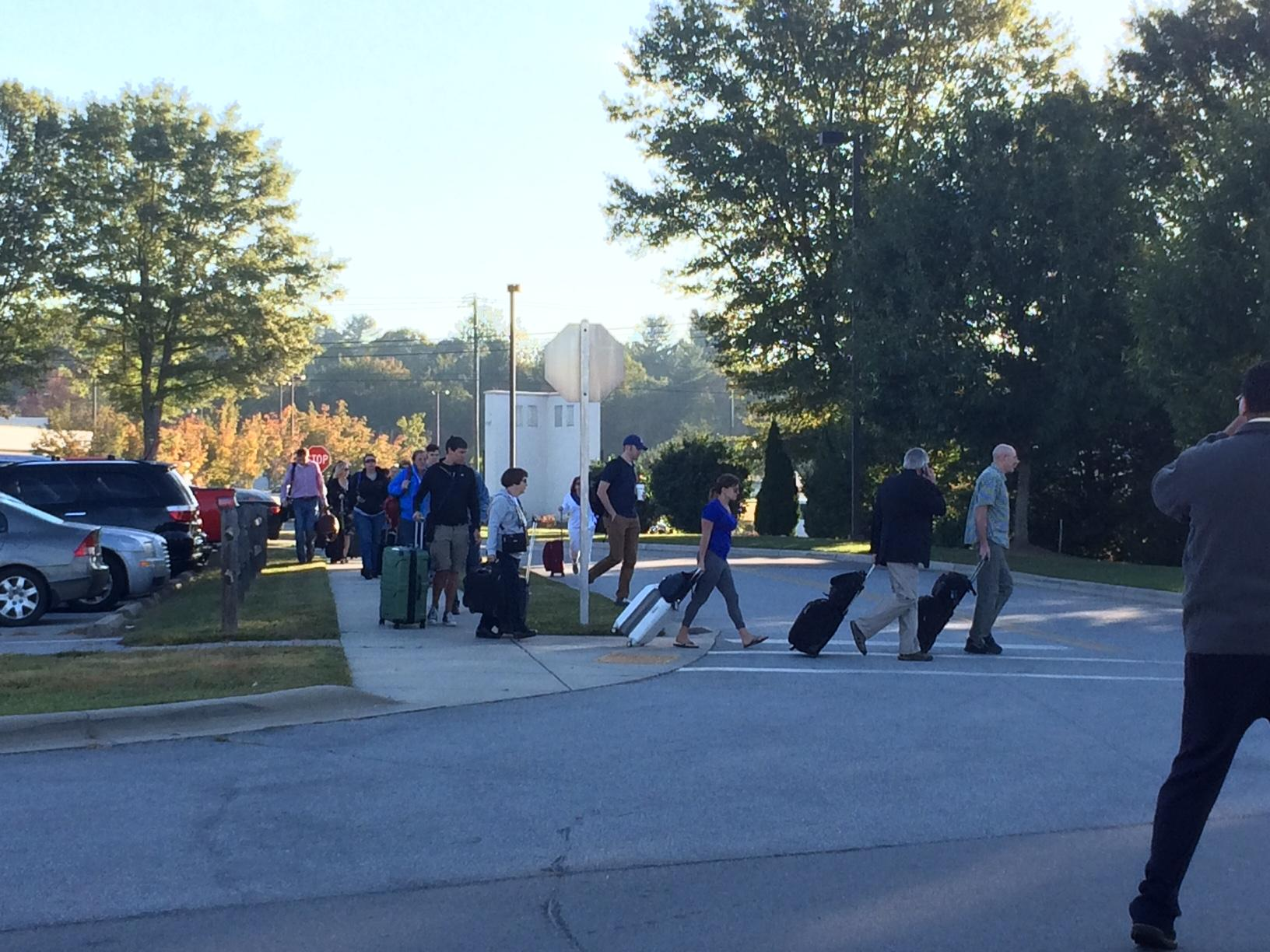 Asheville Regional Airport reopens following suspicious package investigation. (Photo credit: WLOS Staff)
