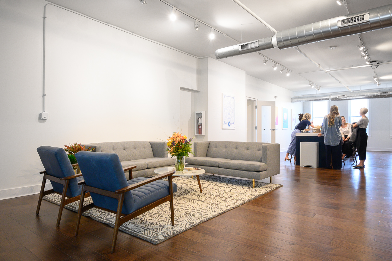 The Ovare Group's offices moved from a space on Main Street in the Central Business District to the Findlay-adjacent OTR location to provide a more creative atmosphere for its employees. / Image: Phil Armstrong, Cincinnati Refined // Published: 9.5.19