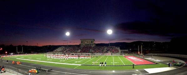 Pregame of Hoover at Hewitt-Trussville at the Huskies' new stadium, Friday, Oct. 24, 2014.