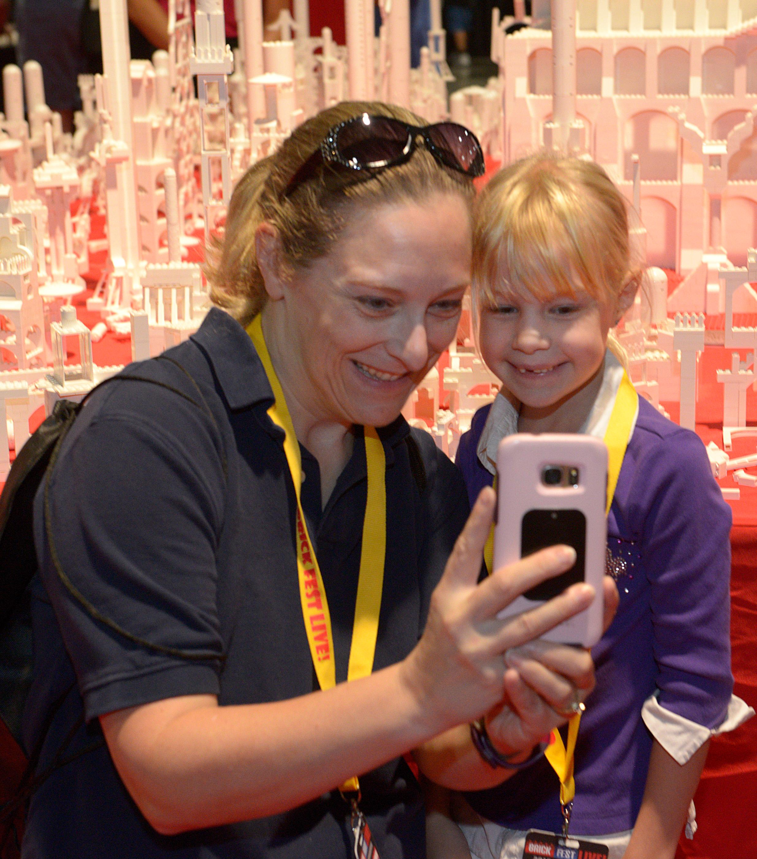 Selfies are the order-of-the-day during the Brick Fest Live Lego Fan Experience at the Las Vegas Convention Center, September 9, 2017. [Glenn Pinkerton/Las Vegas News Bureau]