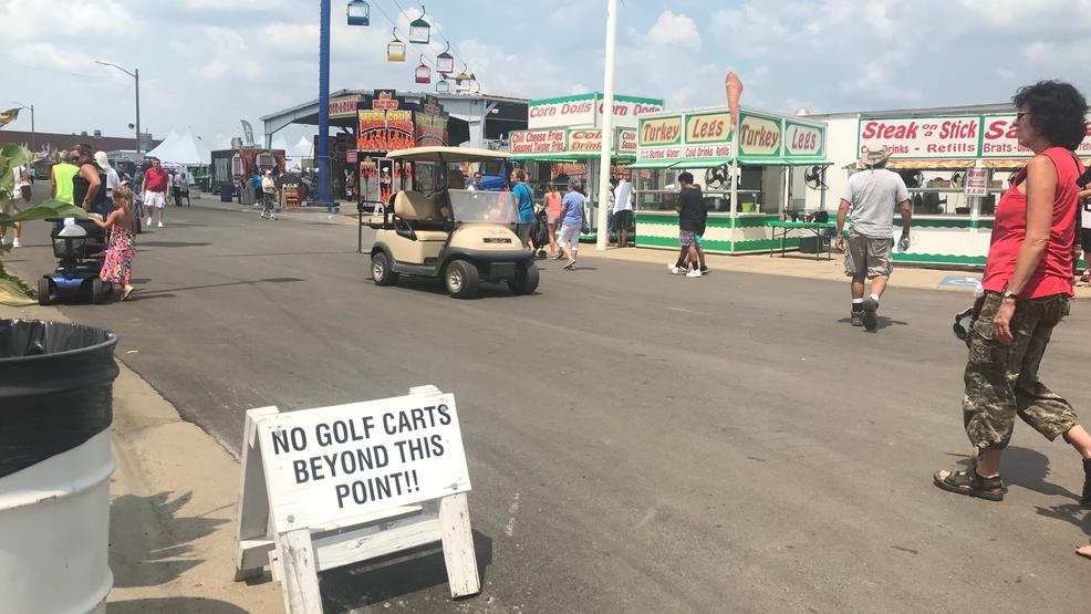 State Fair officials urge caution after child hit by golf cart | WICS