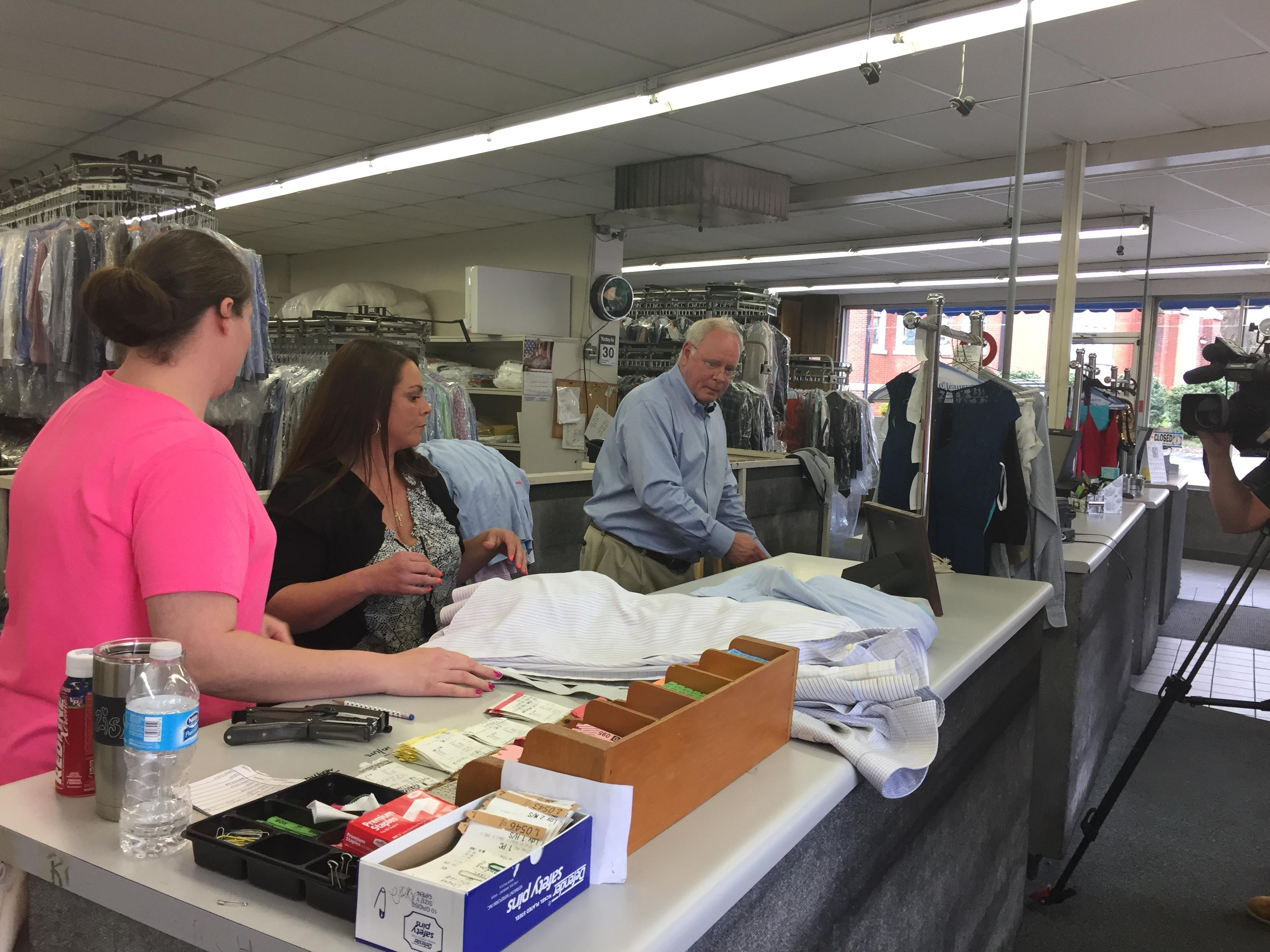 With the help of local businesses, Eblen collects 800 dresses. (Photo credit: John Le WLOS)