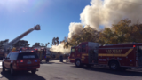 Las Vegas crews knock down large house fire near Alta and Rainbow
