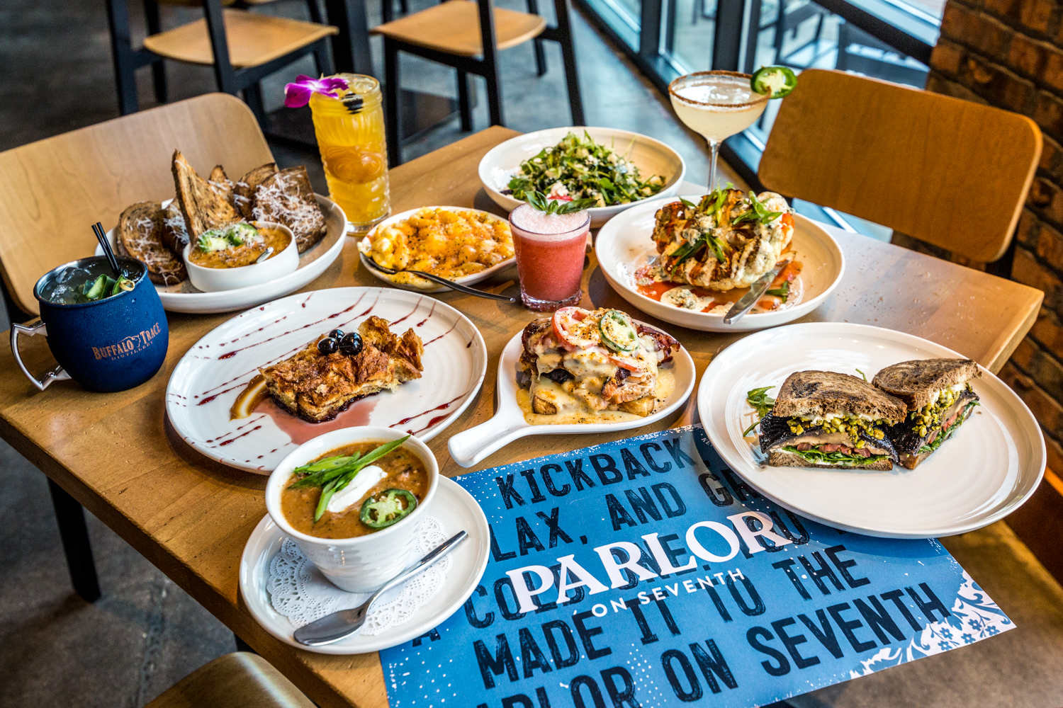Parlor on Seventh, which is next door to Braxton Brewing Company in Covington, is inspired by a parlor from the neighborhood's past. A similar establishment once stood on the corner of 7th and Pike Streets not far from the current parlor's location. The menu pays homage to Cincinnati's German roots with a mix of contemporary German and Southern flavors. Their signature Parlor Spice blend is infused into many of the dishes, as well. ADDRESS: 43 W 7th Street (41011) / Image: Catherine Viox // Published: 10.10.19