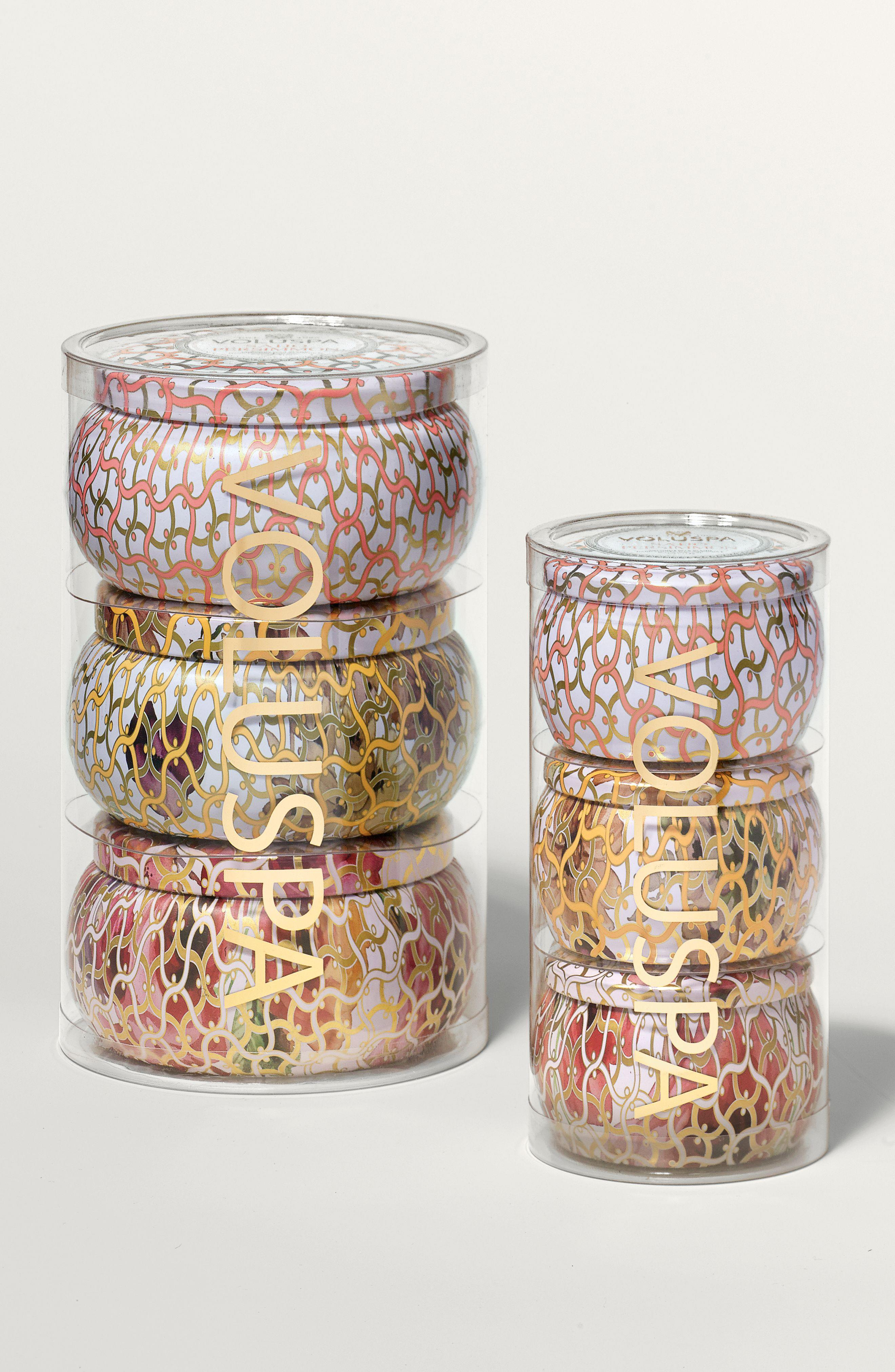 Voluspa Two Wick Tin Set - $29.50 (after sale $48). Voluspa_Mini Tin Set - $15.90 (after sale $24). (Image: Nordstrom)