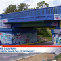 Graphic painting on Graffiti Bridge could land artist behind bars