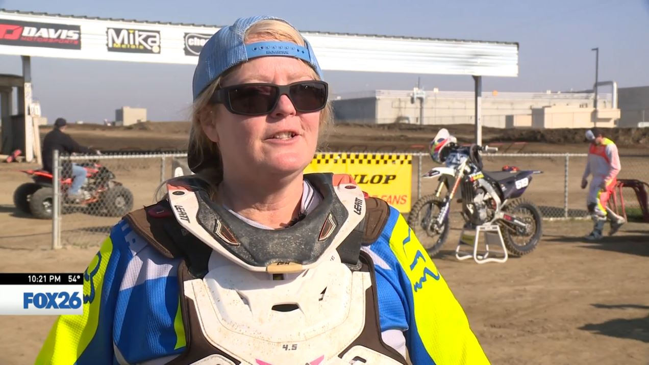 Ginny talks about how she got into motocross (FOX26)