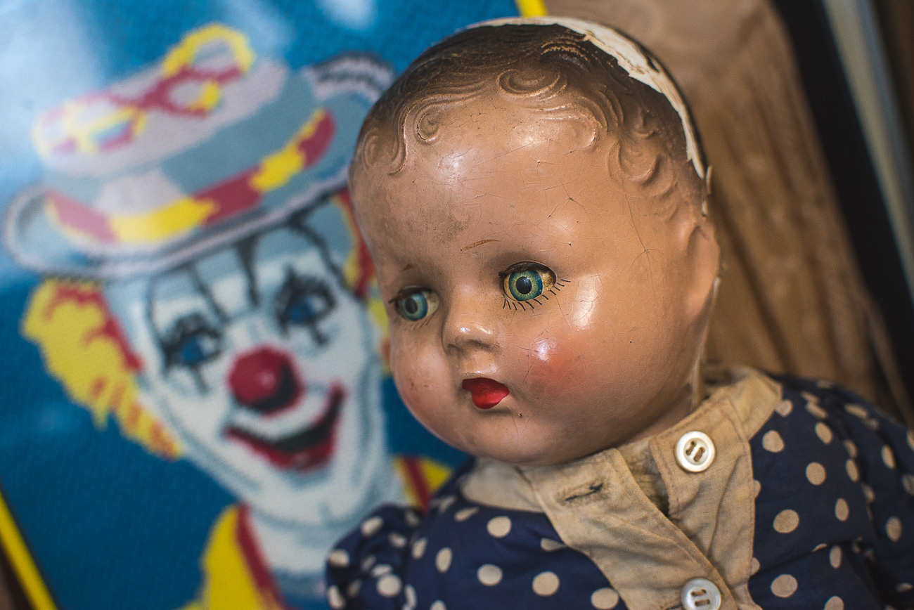 "#10 - ""Ruby,"" the over-80-year-old doll that was believed to have caused sickness in children for generations because a family member who owned the doll died of tuberculosis. Read more about Ruby in the story. / Image: Phil Armstrong, Cincinnati Refined // Published: 10.20.17<p></p>"