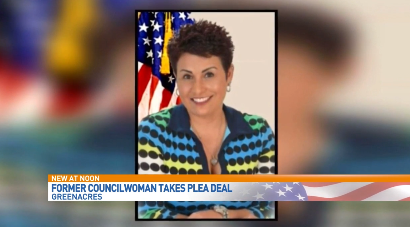 Former Greenacres councilwoman Lisa Rivera pleads guilty to stealing money from Boca High School. (WPEC)