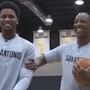 WATCH: Rudy Gay, Sean Elliott play a game of 'P.I.G.'